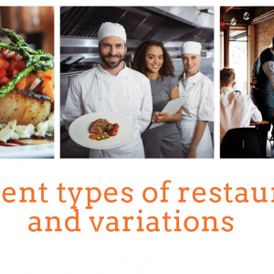 Different types of restaurants and variations